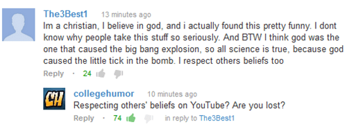are you lost youtube CollegeHumor comment beliefs - 6940874752