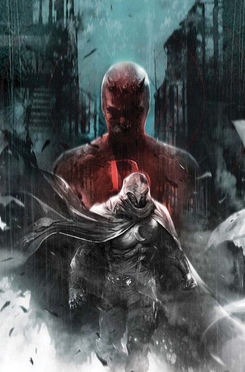 heroes,marvel,moon knight,art,daredevil
