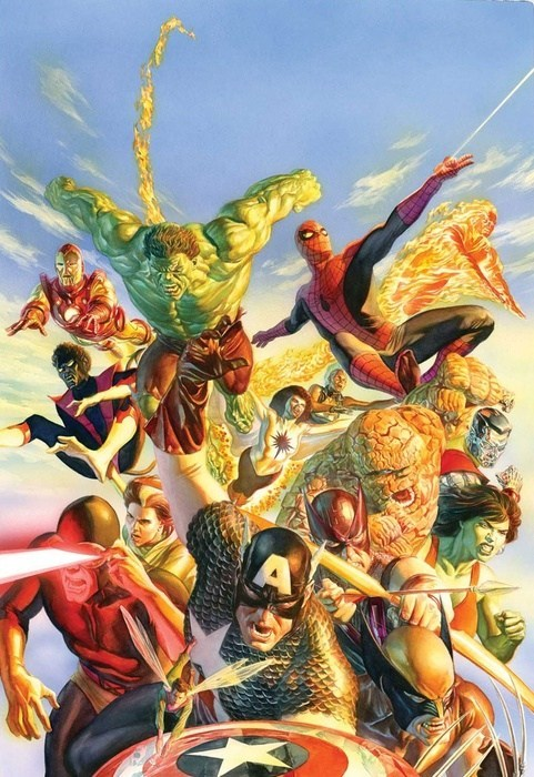 art,infinity wars,awesome,alex ross