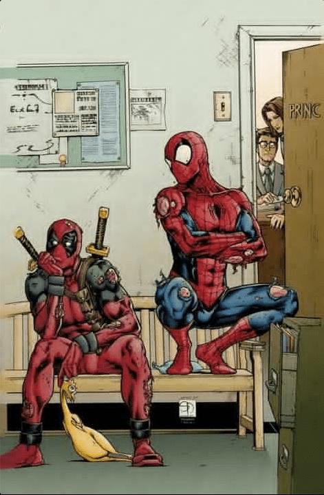 Spider-Man,classroom,principal,deadpool