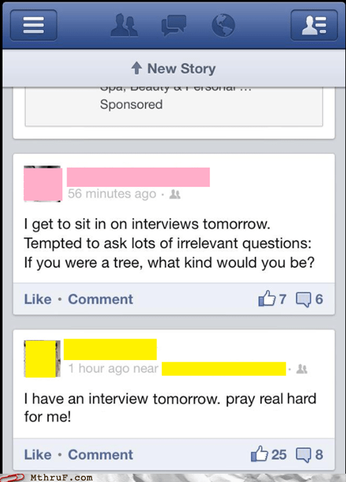 good luck tree interview