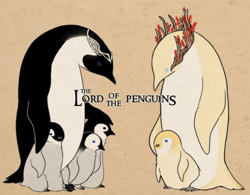 Lord of the Rings elrond kids penguins Fan Art thranduil Arwen - 6940933888