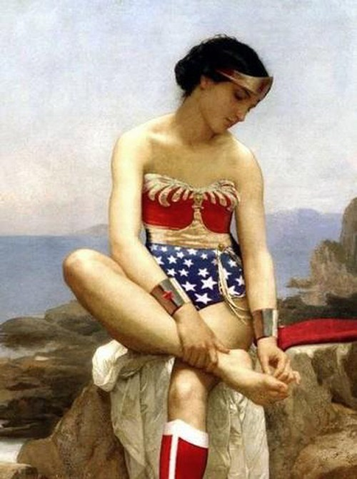art wonder woman painting classic - 6940945152