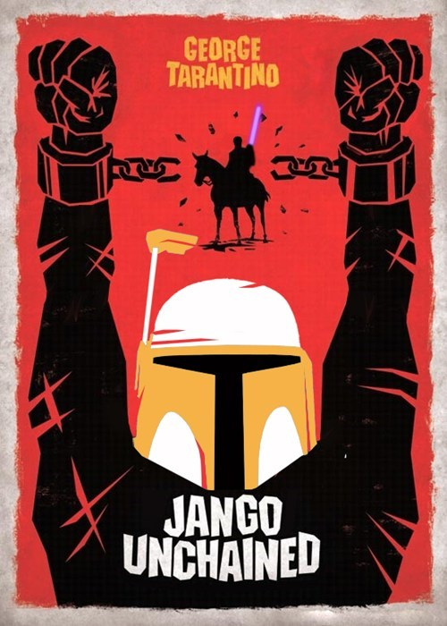 Jango Fett shoop mashup star wars portmanteau django unchained - 6941036800
