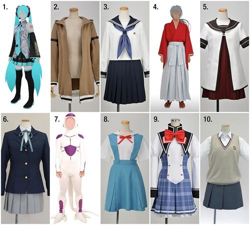 cosplay,anime,top ten,for sale