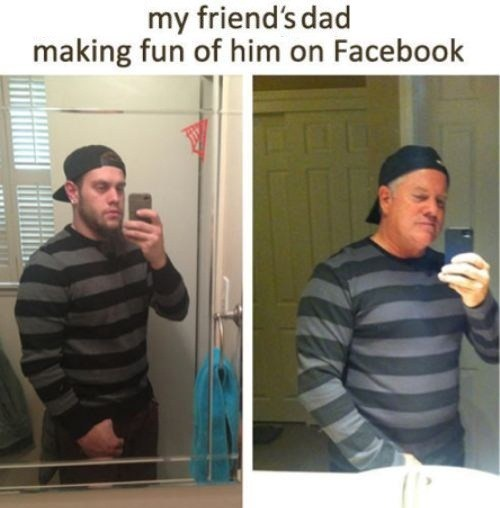 selfie,mocking,fatherson,facebook,self poortraits,g rated,AutocoWrecks