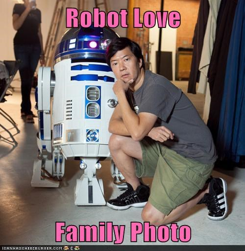 Robot Love  Family Photo