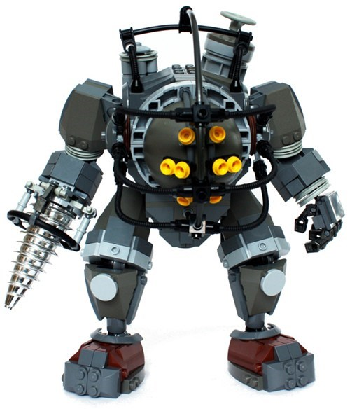 lego,nerdgasm,big daddy,video games,bioshock