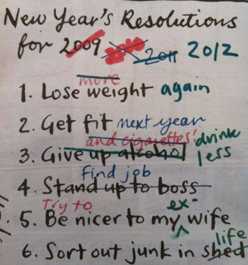 list,Close Enough,new years resolution