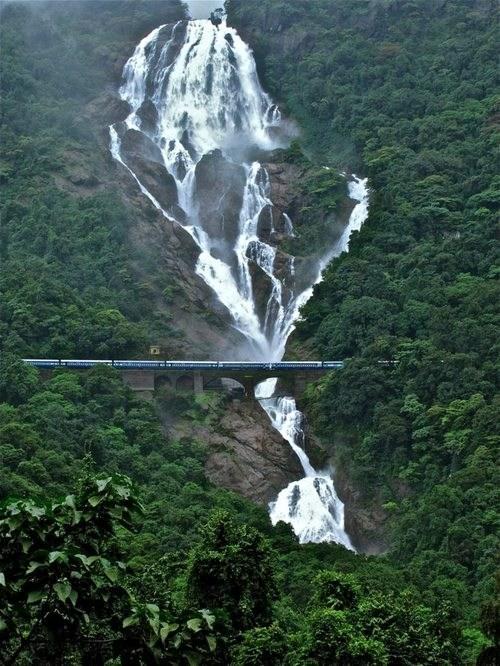 landscape waterfall bridge - 6941487872