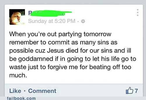 jesus died for our sins jesus christ fapping party hard for jesus