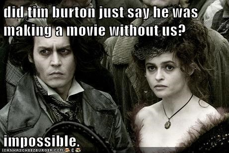 without impossible Movie helena bonham-carter tim burton Johnny Depp - 6942536448