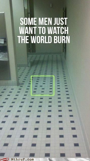 watch the world burn bathroom tiles monster monday thru friday g rated - 6942811136