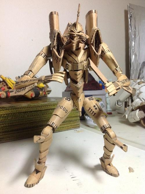 minis anime evangelion figurines cardboard - 6942868480