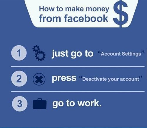 deactivate facebook,go to work,three steps to success,failbook,g rated