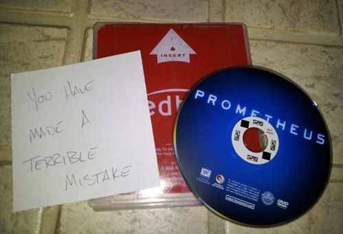 redbox prometheus rental Movie critic