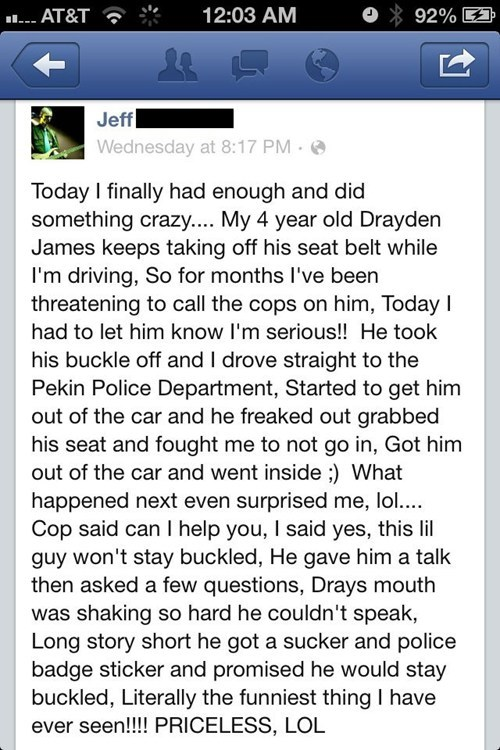fatherson police department facebook failbook g rated