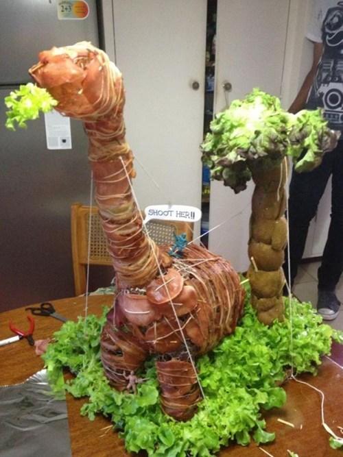 dinosaur bacon meat - 6943196928