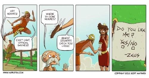 Zeus,mailman,hermes,greek gods