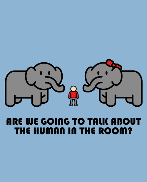elephant in the room art Meanwhile - 6943315200