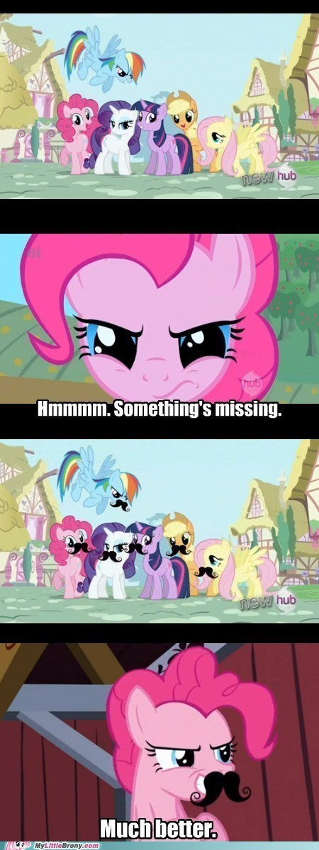 excellent,pinkie pie,mustaches