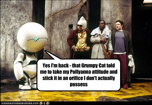 ford prefect The Hitchhiker's Guide to the Galaxy Mos Def arthur dent Martin Freeman zaphod beeblebrox marvin Sam Rockwell Grumpy Cat - 6943566848