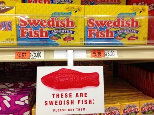 candy,swedish fish,direct marketing,from the marketing department,monday thru friday,g rated