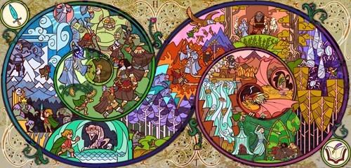 journey Bilbo Baggins Fan Art spiral The Hobbit smaug The Shire - 6943644416
