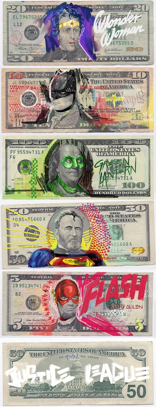 cash,justice league,nerdgasm,hacked irl,money