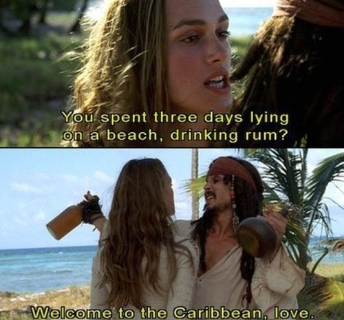 drinking rum jack sparrow Pirates of the Caribbean caribbean - 6943692544