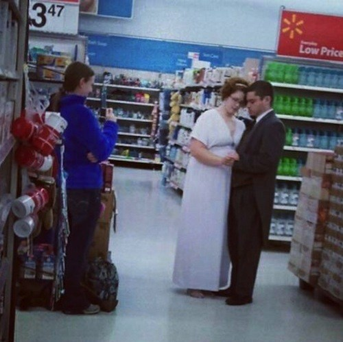 supermarket wedding Walmart wat