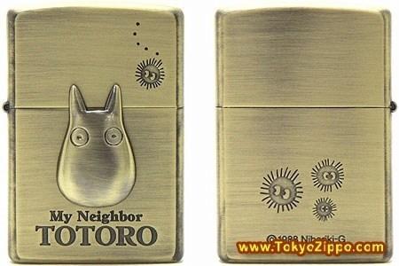 lighter totoro cigarette lighter gold zippo my neighbor totoro - 6943877120