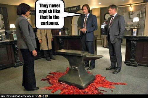 jensen ackles anvil Supernatural dean winchester sam winchester Jared Padalecki cartoons - 6943886592