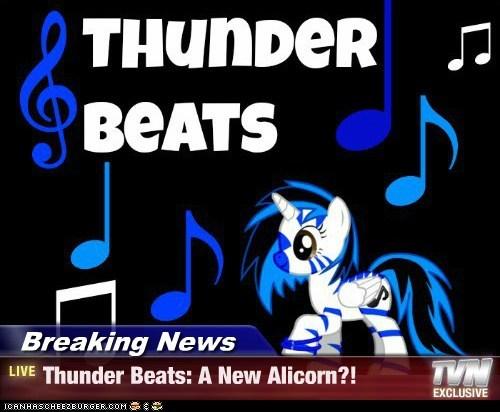 Breaking News - Thunder Beats: A New Alicorn?!