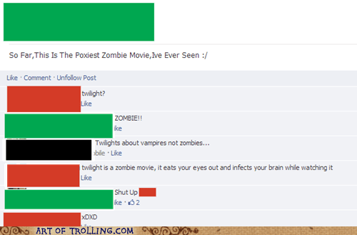 movies,facebook,zombie,twilight