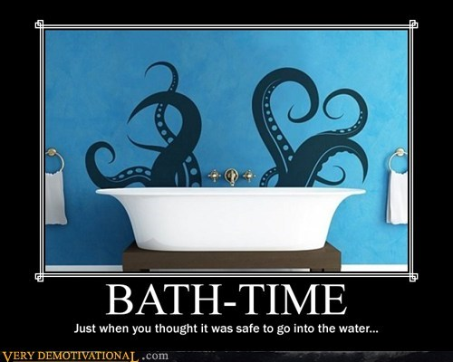 scary,kraken,awesome,bath