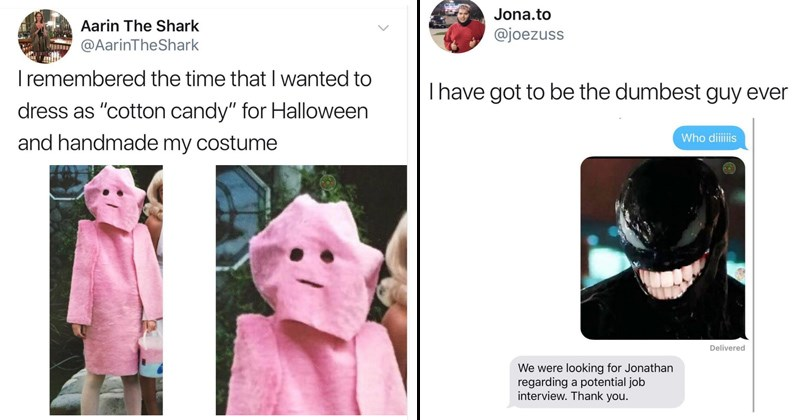 funny memes about a homemade costume and a foiled job opportunity