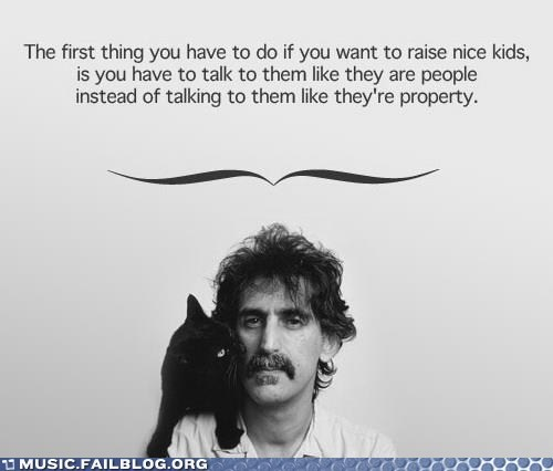 raising children,parenting advice,frank zappa