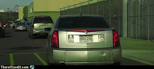 car bumper cadillac duct tape bumper