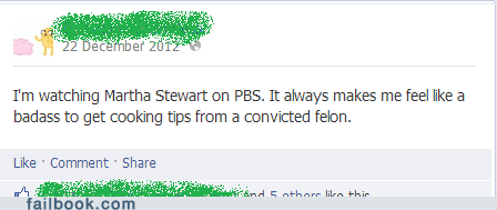 convicted felon PBS Martha Stewart