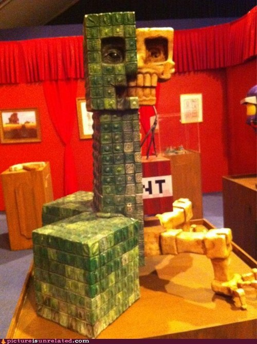anatomy,creeper,sculpture,minecraft,video games