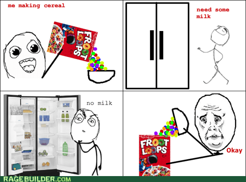 breakfast,milk,froot loops,lunch,Okay,cereal