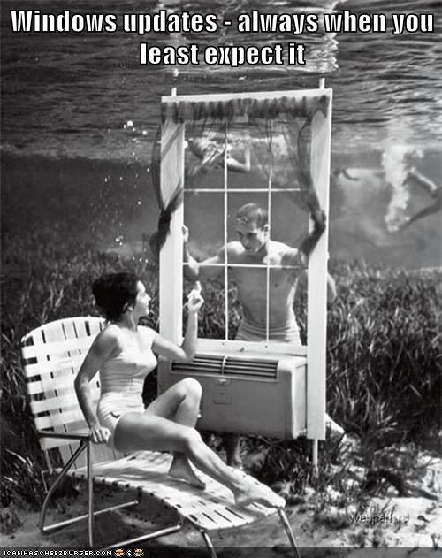 underwater,windows,update,lawn chair