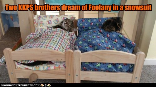 Two KKPS brothers dream of Foofany in a snowsuit