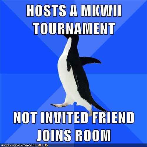 HOSTS A MKWII TOURNAMENT  NOT INVITED FRIEND JOINS ROOM
