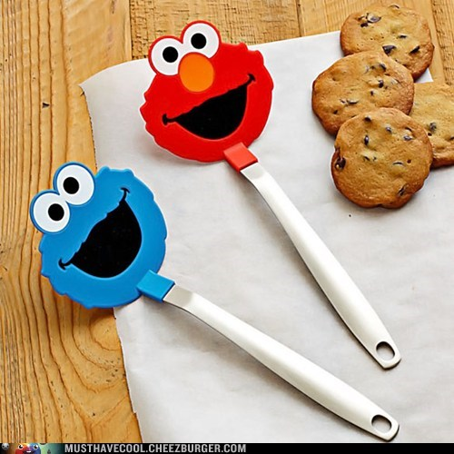 Cookie Monster spatulas elmo Sesame Street - 6948647424