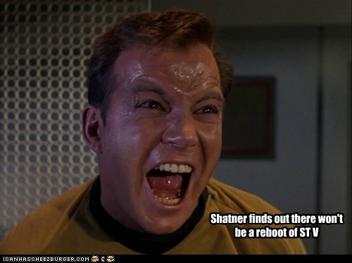 Shatner finds out there won't be a reboot of ST V