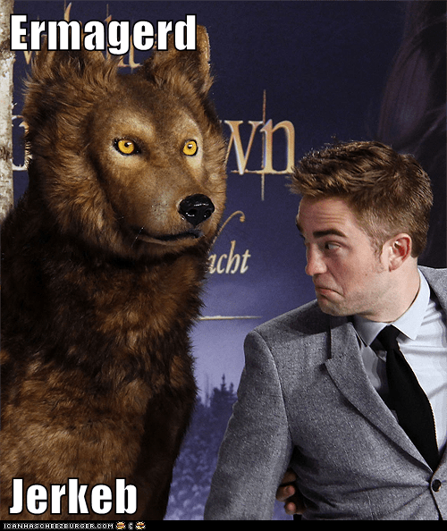 Ermahgerd Jacob robert pattinson twilight shocked derp wolf - 6949081600