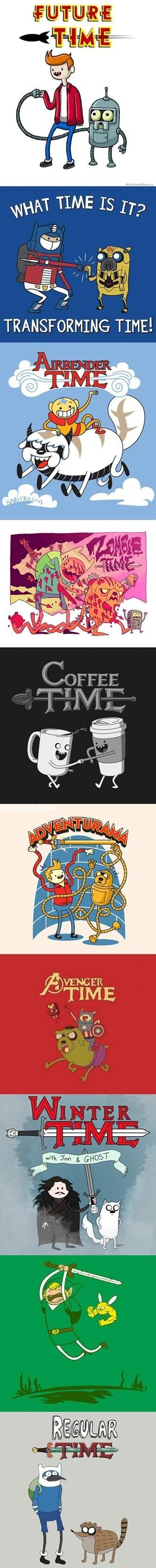 crossover Fan Art adventure time - 6949559808