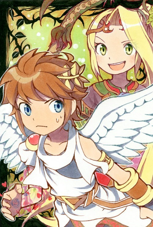 Fan Art kid icarus pit video games